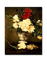 Hand-painted Floral Oil Painting by Edouard Manet with Stretched Frame