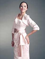 Wedding  Wraps Coats/Jackets 3/4-Length Sleeve Satin Pearl Pink Party/Evening / Office & Career Open Front