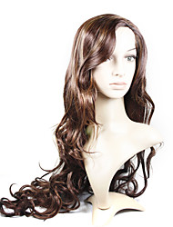 Capless Extra Long High Quality Synthetic Natural Look Honey Brown European Weave Hair Wig