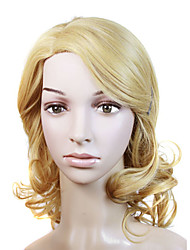 Capless Long Synthetic Blonde Curly Hair Wig