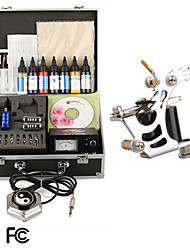 Tattoo Kit Pro 1 Tattoo Machine Power Tip Needles Skin Ink Supply