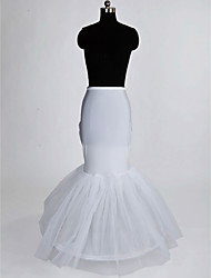 Slips Mermaid and Trumpet Gown Slip Floor-length 1 Nylon Tulle Netting White
