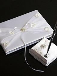 """The Precious"" Wedding Guest Book And Pen Set With Crystal Cluster"