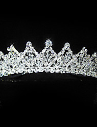 luxuoso qualidade do hight liga strass tiara wedding