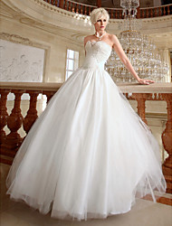 Lan Ting Ball Gown Plus Sizes Wedding Dress - Ivory Floor-length Sweetheart Organza