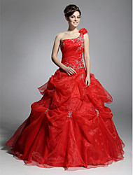 Prom/Formal Evening/Quinceanera/Sweet 16 Dress - Ruby Plus Sizes Ball Gown One Shoulder Floor-length Organza