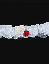 Garter Satin Flower White