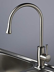 Nickel Brushed Centerset Kitchen Faucet (0599)