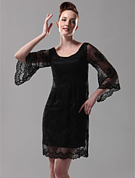 TS Couture® Cocktail Party / Holiday Dress - Black Plus Sizes / Petite Sheath/Column Scoop Short/Mini Lace