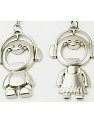 Boy and GirlKeychains/Bottle Opener (Set of 6 pairs)