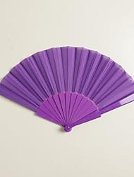viola di seta fan mano (set di 6)