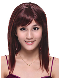 Capless Long High Quality Synthetic Red Wine Straight Hair Wig