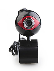 8.0 Mega Pixels USB Web Camera Webcam For PC Laptop/Notebook - Black