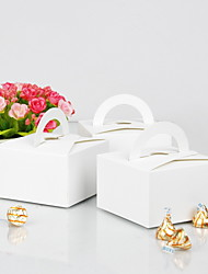 White Cake Box With Handle (Set of 12)