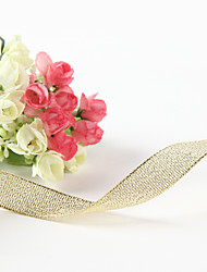5/8-Inch Metallic Golden Ribbon