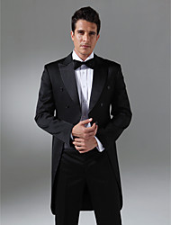 Custom Made Double Breasted Six-button Peak Lapel Center-vented Groom Tuxedo