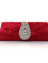 Women Silk Event/Party Evening Bag Purple / Red / Silver / Black