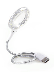 18 luci LED USB con lente d'ingrandimento, bianco
