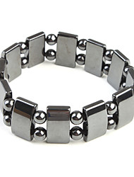Magnetic Bracelet with Rectangle and Round Beads, for Boys