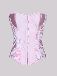 brocado strapless frente fechamento busk corsets shapewear ocasião especial