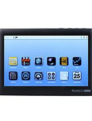 SIGO - 5 Inch Touch Screen Media Player (4GB, 720P, Black/White)