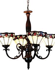 tiffany luz do tipo pendente com 4 luzes