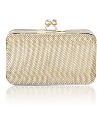 Stainless Steel Shell With Rhinestone Evening Handbags/ Clutches