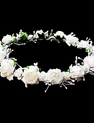 Women's/Flower Girl's Paper Headpiece - Wedding/Casual/Special Occasion Wreaths/Flowers