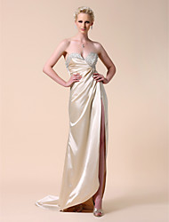 Clearance!Elastic Woven Satin Sheath/ Column Sweetheart Sweep/ Brush Train Evening Dress inspried by Kate Hudson