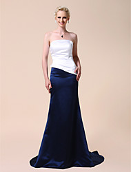 Clearance!Satin Sheath/ Column Strapless Court Train Evening Dress inspired by Aishwarya Rai at Cannes Film Festival