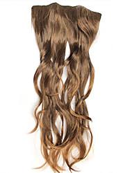 moda marrone chiaro clip di ricci in hair extension