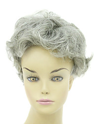 Capless Short Heat-resistant Fashion Gray Costume Party Wig