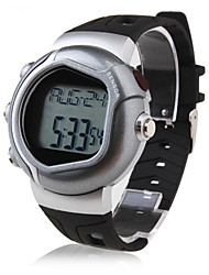 Calorie Counter Pulse Heart Rate Monitor Automatic Watch with Alarm - Silvery