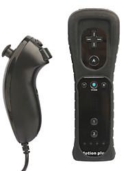 Controle Remoto 2 em 1 , MotionPlus e Controle Nunchuk para Nintendo Wii/ Wii U Preto com Capa Protetora