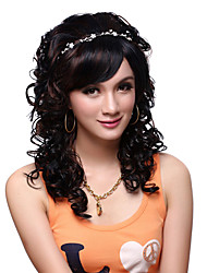 Capless Long Top Grade Quality Synthetic Black Curly Beautiful Wig