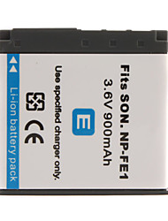 900mAh 3.6V câmera digital bateria NP-FE1 para Sony Cyber-shot DSC-T7 e mais