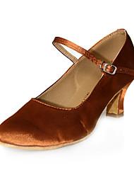 Satin Upper Dance Shoes Ballroom Modern Shoes for Women More Colors