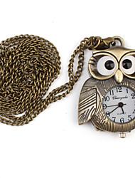 Mulheres Relógio de Bolso Quartz Lega Banda Bronze marca-