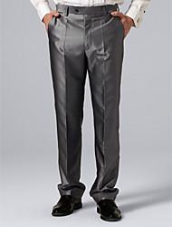 pantalones de traje gris