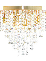 Modern Crystal Semi Flush Mount with 9 Lights (G9 Bulb Base)