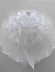 Artificial Flower/ Lace Rhinestone With Music Box Wedding Ring Pillow