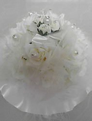 Artificial Flower/ Lace With Music Box Wedding Ring Pillow