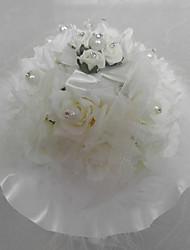 fiore artificiale / pizzo con cuscino box anello di musica di nozze