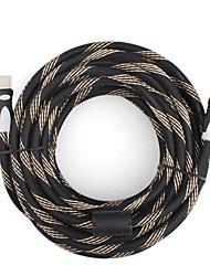 10m 30 pés v1.4 1080p conexão blindado macho 3D 4k HDMI para cableforsmart masculino LED HDTV, Apple TV, blu-ray dvd (dourados)
