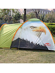 Two Persons Tents with Double Tent Waterproof Anti-wind Outer Tend Anti-mosquito Breathable Inner Tend