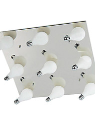 Modern Flush Mount with 9 Lights in Square (G4 Bulb Base)
