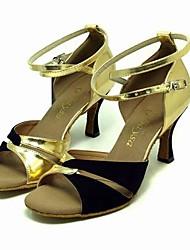 искусственная кожа / бархат верхней танцевать бальные туфли латинского обувь для женщин больше цветов