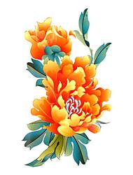 Tatuaggi adesivi Serie fiori Fantasia Waterproof Da donna Girl Teen Tatuaggio temporaneo Tatuaggi temporanei