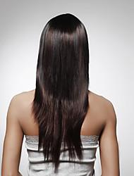 sin tapa de largo cabello humano 100% oscura peluca castaña pelo liso 5 colores a elegir