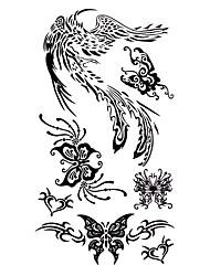5 pcs tatouage de Phoenix imperméables temporaires (17.5cm * 10cm)